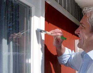 Подготовка окна к окраске