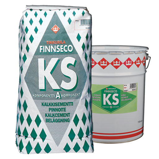 Финсекко КС(Finnseco KS) известково-цементное покрытие - неорганическое двухкомпонентное колеруемое известково-цементное покрытие