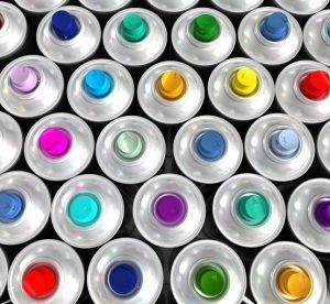 Аэрозольные краски в баллончиках