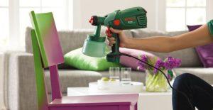Окраска мебели с помощью краскопульта