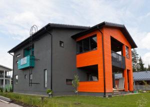 Окраска минеральных фасадов новой акриловой краской от Тиккурила