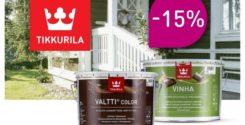 Скидка 15% на фасадные материалы Tikkurila
