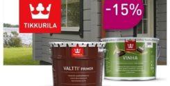 Скидка 15% на антисептики и краски Tikkurila