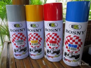 Аэрозольные краски Bosny