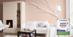 Новинка: Finncolor Oasis Wallpaper – глубокоматовая интерьерная краска для стен и обоев