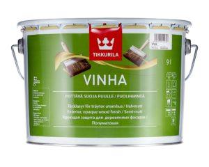 Краска Тиккурила Винха — водоразбавляемый полуматовый состав для древесины