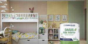 Новинка Finncolor Oasis Kids Interior — глубокоматовая краска для стен и потолков в детских комнатах