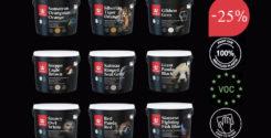 Акция: Скидка 25% на всю серию красок Tikkurila Endangered Colours