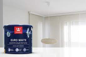 Tikkurila Euro White для потолков и ее особенности
